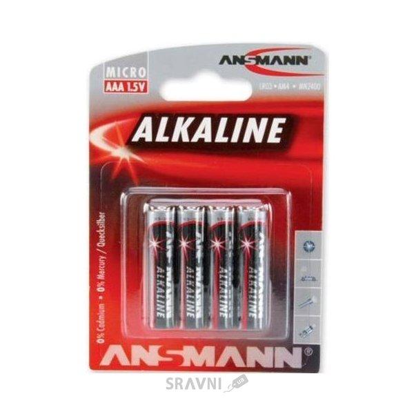 Фото ANSMANN AAA bat Alkaline 4шт Red (5015553)