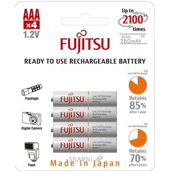 Фото Fujitsu AAA 750mAh NiMh 4шт HR-4UTCEX (4B)