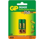 Фото GP Batteries AAA 750mAh NiMh 2шт (75AAAHC)