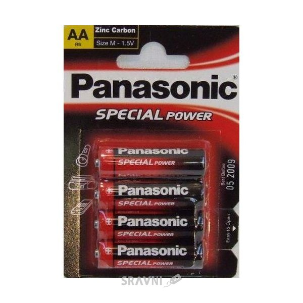 Фото Panasonic AA bat Carbon-Zinc 8шт Special (R6BER/8P)