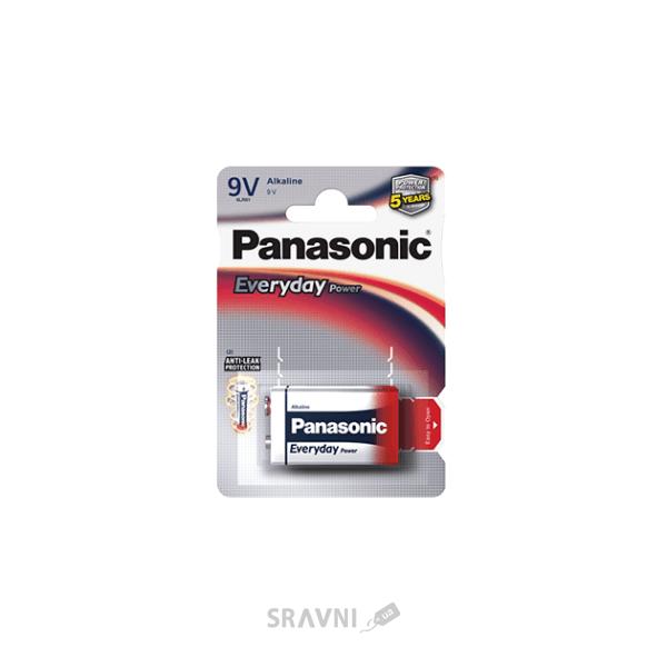 Фото Panasonic Krona bat Alkaline 1шт EVERYDAY POWER (6LF22REE/1BR)