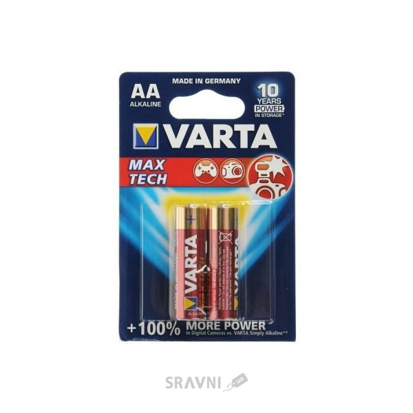 Фото Varta AA bat Alkaline 2шт MAX TECH (04706101412)