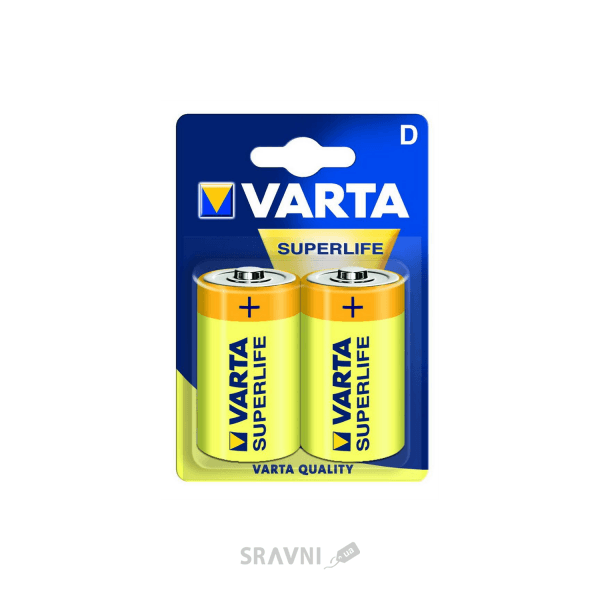 Фото Varta D bat Carbon-Zinc 2шт SUPERLIFE (02020101412)