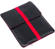"Фото Luardi Leather pouch MacBook Air 11"" Black/Red (LLMBA11F_BLK/RED)"