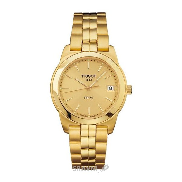 Мужские часы TISSOT PR50 Quartz Механизм: Кварцевые; Корпус: Стальной; Стекло: Сапфировое; Браслет: Кожанный ремешок