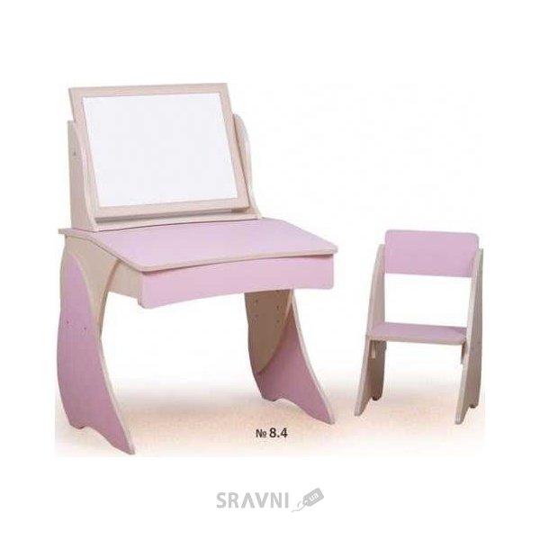 Фото Вальтер-Мебель Парта со стульчиком и мольбертом Умник с фотопечатью