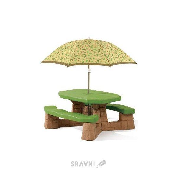 Фото STEP2 Столик для пикника с зонтиком (787700)