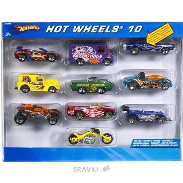 Фото Mattel Автомобиль базовый 10 штук (54886)