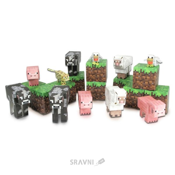 Фото Jazwares Minecraft 16701 Papercraft Animal Mobs Set