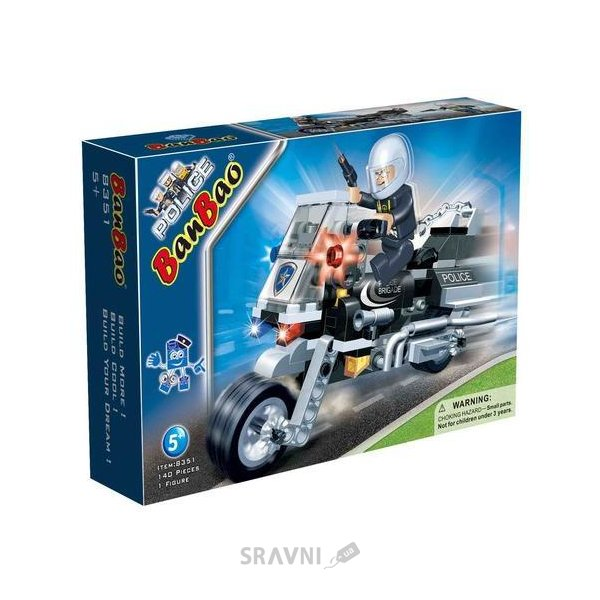 Фото BanBao Полиция 8351 Полицейский на мотоцикле