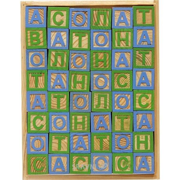 Фото 1 Вересня Кубики деревянные с русским алфавитом (950022)