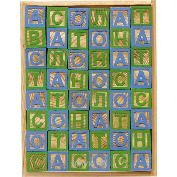 Фото 1 Вересня Кубики деревянные с украинским алфавитом (950023)