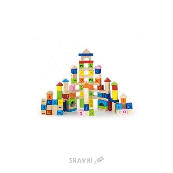 Фото Viga Toys Набор кубиков Алфавит и числа 100 шт. (50288)