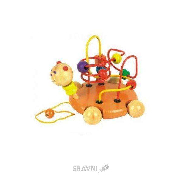 Фото Мир деревянных игрушек Лабиринт-каталка Черепаха (Д115)