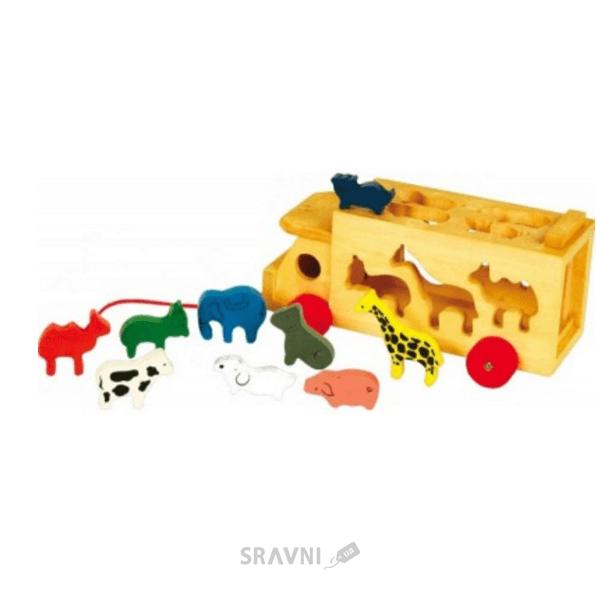 Фото Мир деревянных игрушек Машина и звери (Д204)