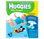Фото Huggies Ultra Comfort для мальчиков 3 (80 шт.)