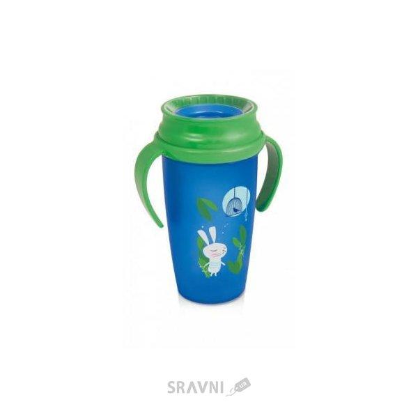Фото LOVI Чашка с ручками Folky Active Следуй за кроликом 350 мл (1/576new)