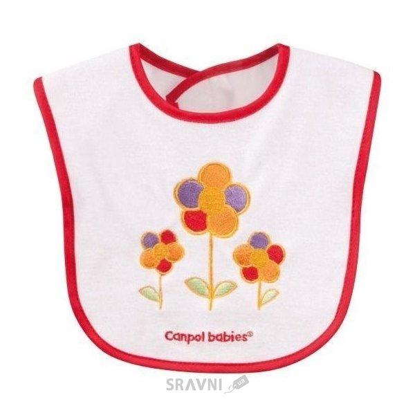 Фото Canpol Babies Слюнявчик хлопчато-цератковий с вышивкой Машинка/Цветочки (15/102)