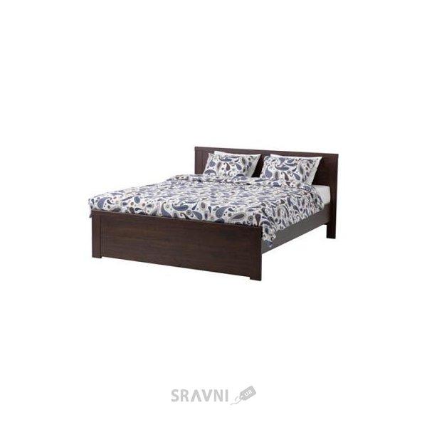 Фото IKEA BRUSALI Каркас 160x200 и LONSET основа под матрас (490.187.58)