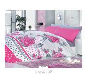 Фото Zambak 7637-01 двуспальный Евро белый с розовым (01008123)