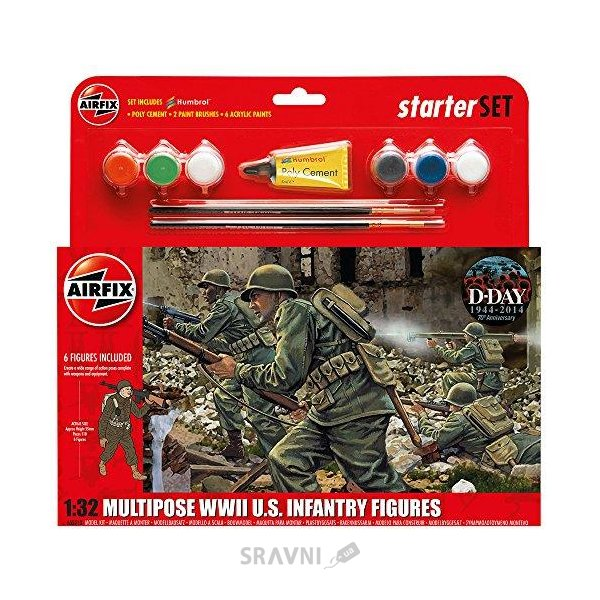 Фото Airfix Подарочный набор с набором фигурок американской пехоты (AIR55212)