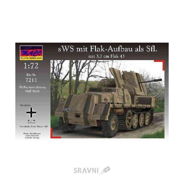 Фото Maco Немецкое зенитное орудие 3,7 cm Flak 43 на sWS (7211)