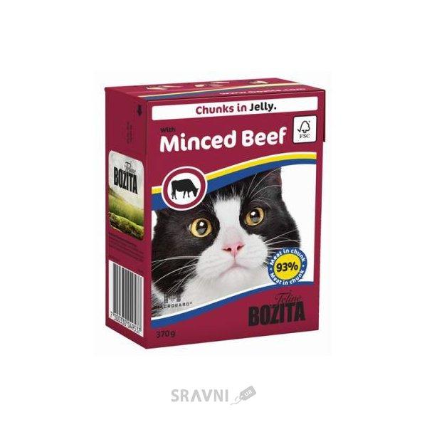 Фото Bozita Feline кусочки в желе с рубленой говядиной 370 г