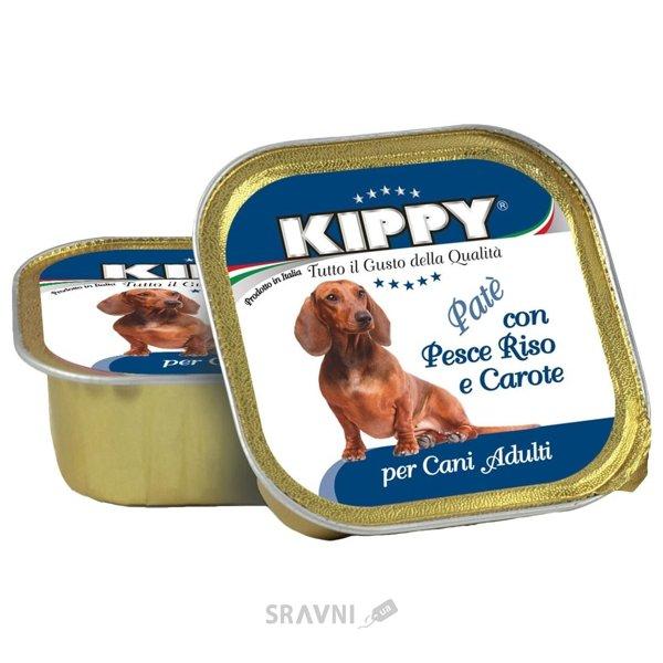 Фото KIPPY Консервы для собак с рыбой, рисом и морковью 300 г