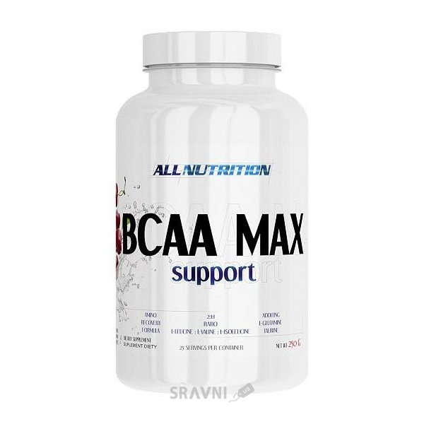 Фото All Nutrition BCAA Max Support 250g (25 servings)