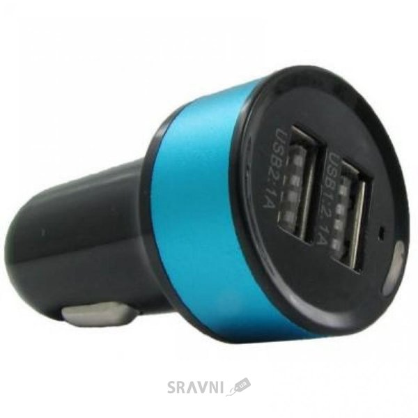 Фото MaxPower Mets 2.1A+1A Black/Blue (33841)