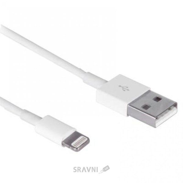 Фото Drobak USB 2.0 AM – Lightning 1.0м White (215339)