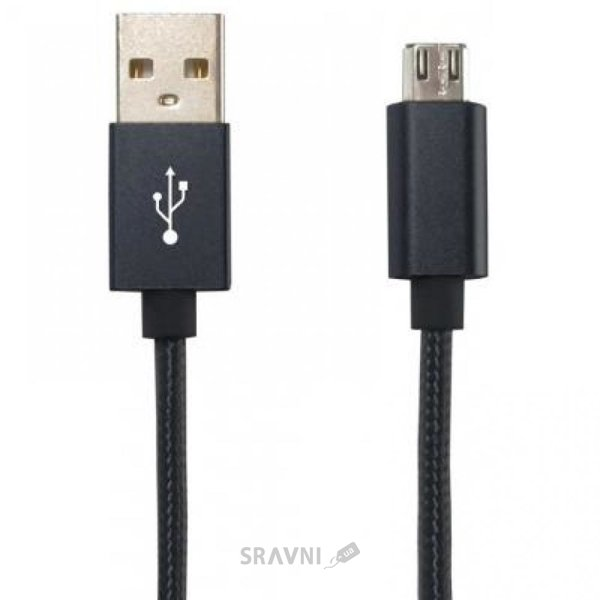 Фото Gelius Metallic Edition USB 2.0 – MicroUSB Black (36491)