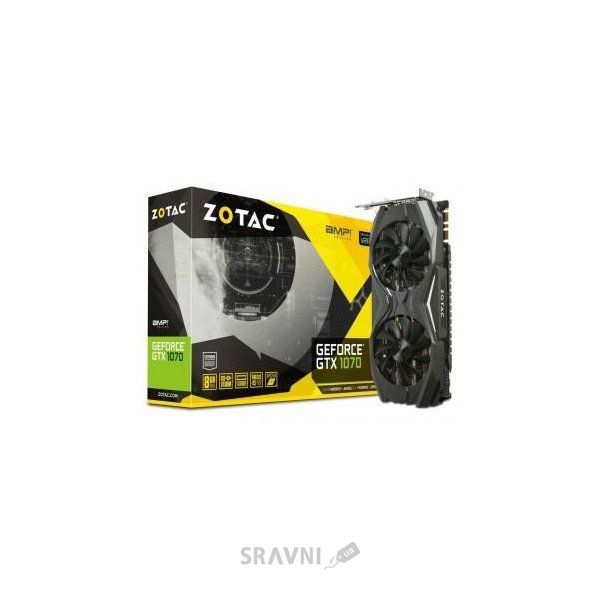Фото Zotac GeForce GTX 1070 AMP Edition 8Gb (ZT-P10700C-10P)