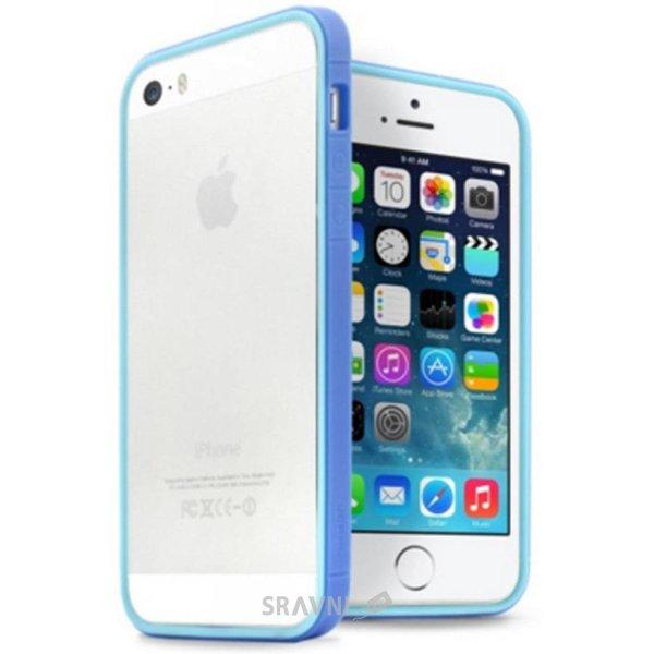 Фото JCPAL Anti-shock Bumper 3 in 1 для iPhone 5S/5 Set-Blue (JCP3313)