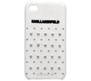 Фото Karl Lagerfeld Trendy with Studs для iPhone 4/4S White (KLHCP4TRSW)