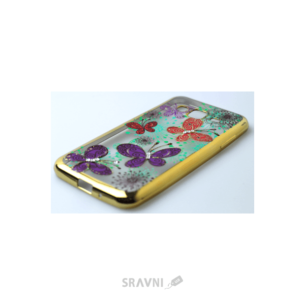 Фото Younicou Diamonds Chrome Samsung Galaxy J3 2016 SM-J320H Butterfly