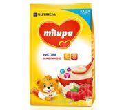 Фото Milupa Каша молочная рисовая с малиной, 210 г
