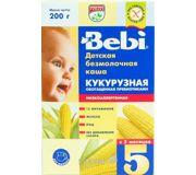 Фото Bebi Каша безмолочная Кукурузная с пребиотиками 5 мес., 200 г
