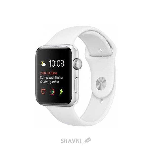 Фото Apple Watch Series 2 38mm Silver Aluminum Case with White Sport Band (MNNW2)