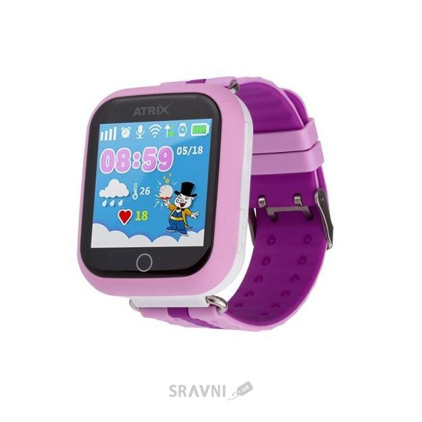Фото Atrix Smart Watch iQ100 Touch GPS (Pink)