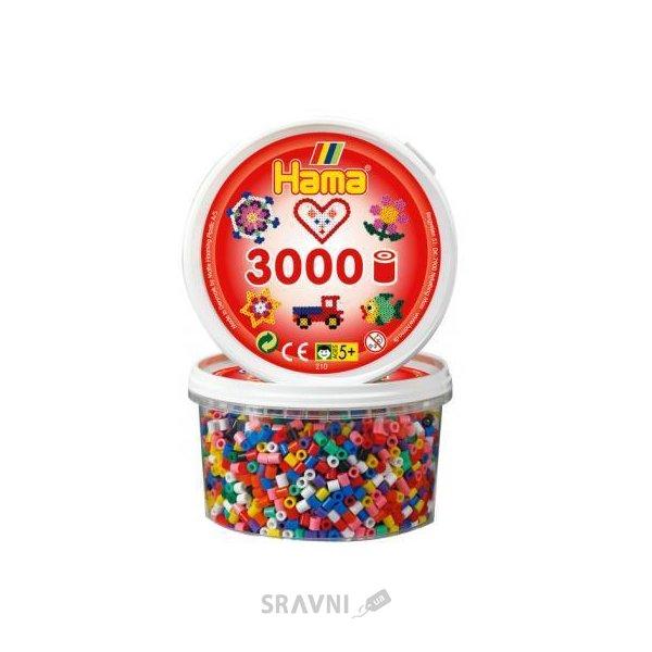 Фото Hama Цветные бусины 10 цветов 3000 шт (210-00)