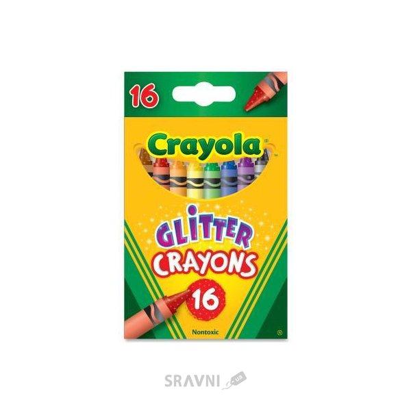 Фото Crayola 16 восковых мелков с блестками (52-3716)