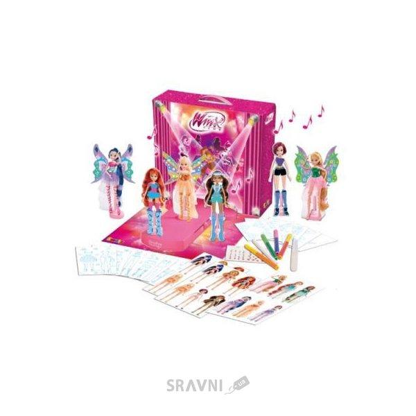 Фото SMOBY Winx Показ мод с подиумом, наклейками и фломастерами (27203)