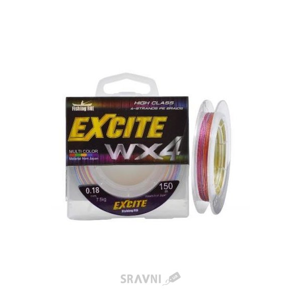 Фото Fishing ROI Excite WX4 multicolor (0.20mm 150m 9.0kg)