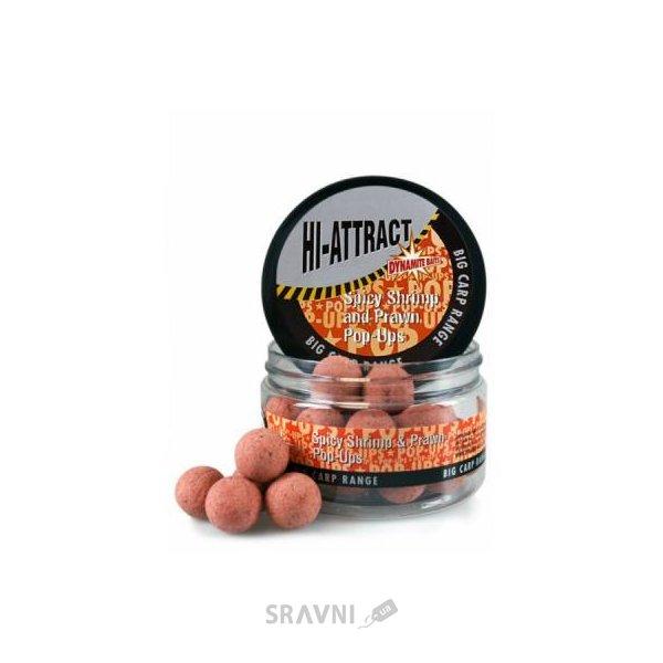 Фото Dynamite Baits Бойлы Pop-Ups Hi Attract Spicy Shrimp & Prawn 15mm