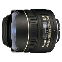 """Цены на Объектив Nikon 10.5 mm f/2.8G IF-ED AF DX FISHEYE NIKKOR NIKON Nikon 10.5 mm f/2.8G IF-ED AF DX – объектив типа """"рыбий глаз"""". Крепление Nikon F; для неполнокадр. аппаратов; автоматическая фокусировка; мин. расстояние фокусировки 0.14 м; размеры (DхL): 63x, фото"""