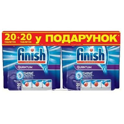 Фото Таблетки FINISH All in 1 (20+20 шт) FINISH