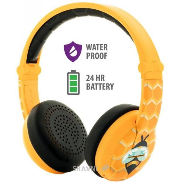 Наушник BuddyPhones Wave Bee, Yellow (BT-BP-WV-BEE)