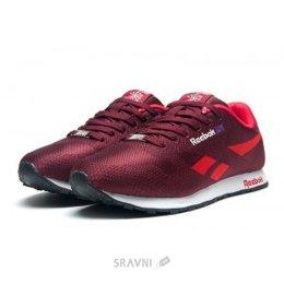 Reebok Мужские кроссовки Reebok Classic Runner Jacquard бордовые с красным  E11284 65f62fef62204